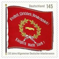 Briefmarke zu 150 Jahre SPD